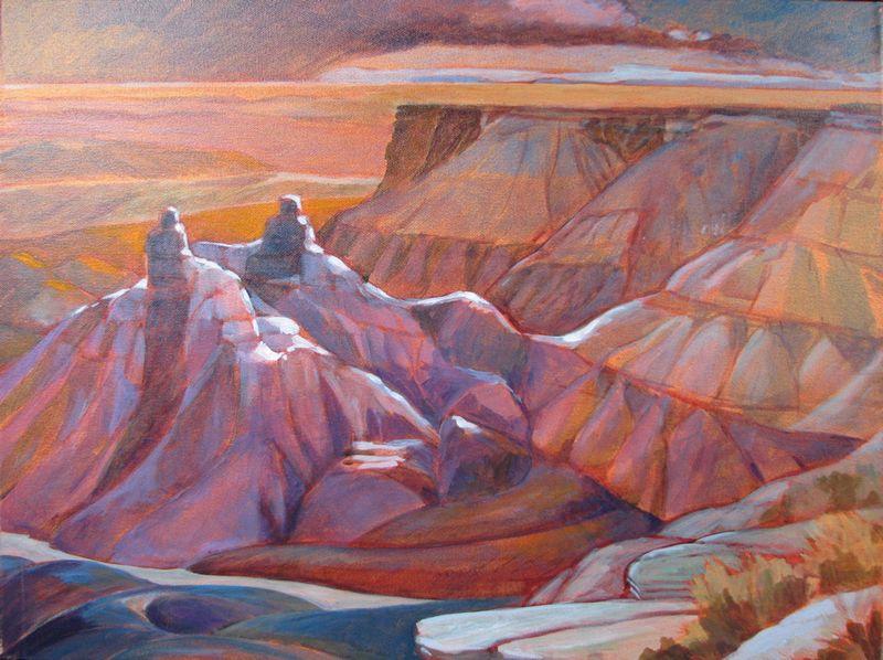 From Blue Mesa I, 2009, Acrylic on Canvas, 18