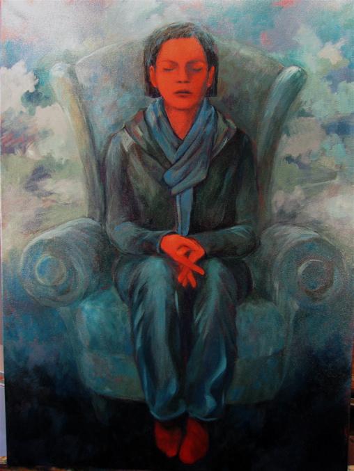 2 Hiding in Plain Sight, 2009, Acrylic on Canvas, 30