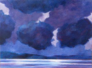 6 Dark Clouds, 2009, Acrylic, 24