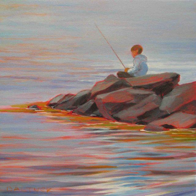Fisher Boy - Breakwater, Ålvik, Norway