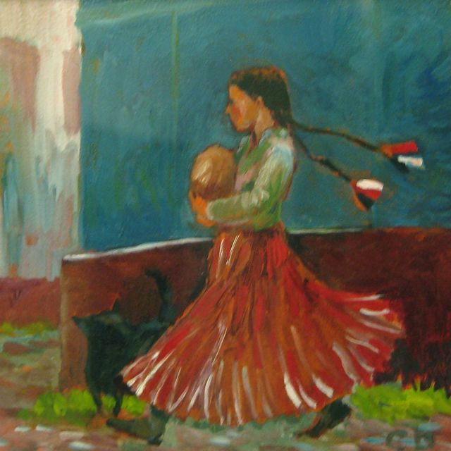 Gypsy Girl with Bread