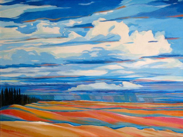 "Corduroy Dunes, 18"" x 24"", Acrylic on Canvas - SOLD"