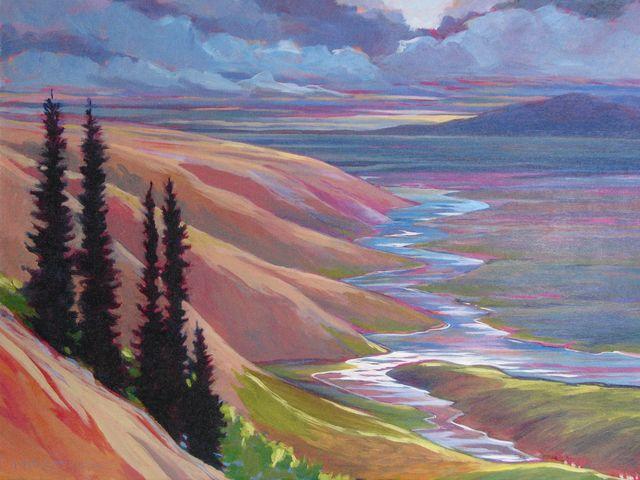 "Niaktuvik Creek, 18"" x 24"", Acrylic on Canvas - SOLD"