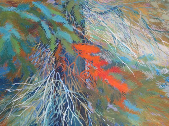 """Not-So-Black Spruce, 18"""" x 24"""", Acrylic on Canvas - SOLD"""