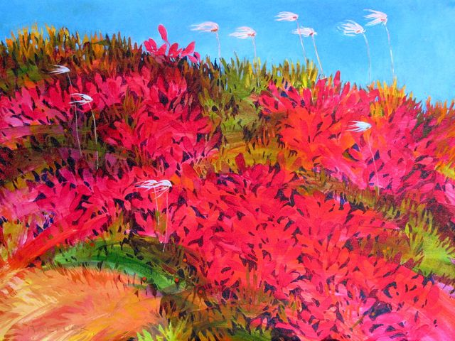 """Windswept, 18"""" x 24"""", Acrylic on Canvas - SOLD"""