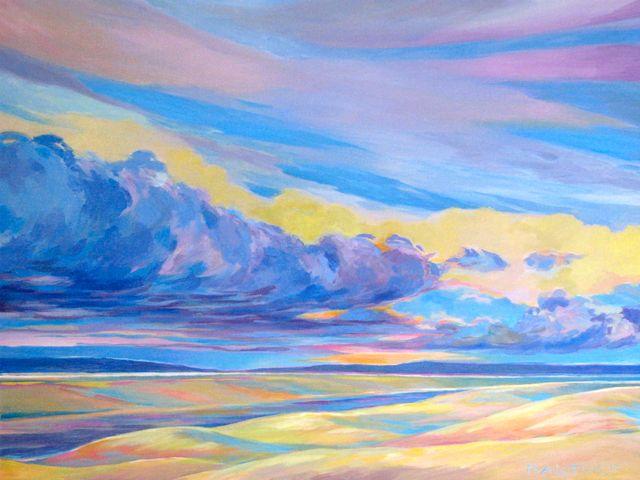 """Runway, Kobuk Dunes, 18"""" x 24"""", Acrylic on Canvas - SOLD"""