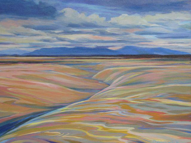 "Drifting Dunes, 18"" x 24"", Acrylic on Canvas - SOLD"
