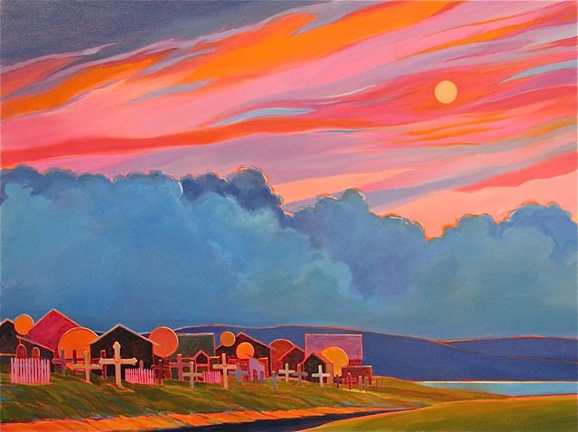 "Kotzebue Twilight, 30"" x 40"", Acrylic on Canvas - SOLD"