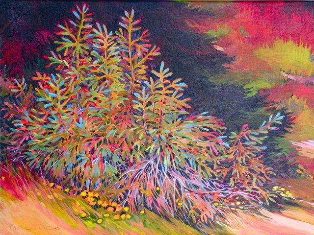 "New Trees, 18"" x 24"", Acrylic on Canvas"